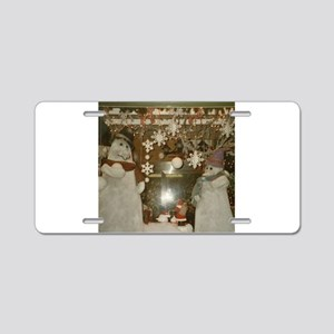 Snow Many Snowmen And Stars Two Aluminum License P