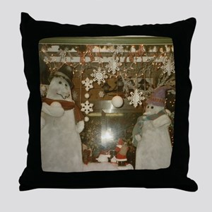 Snow Many Snowmen And Stars Two Throw Pillow