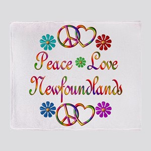 Newfoundlands Throw Blanket
