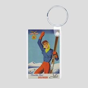 Vintage Ski Ad Keychains