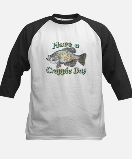 Have a Crappie Day Kids Baseball Jersey