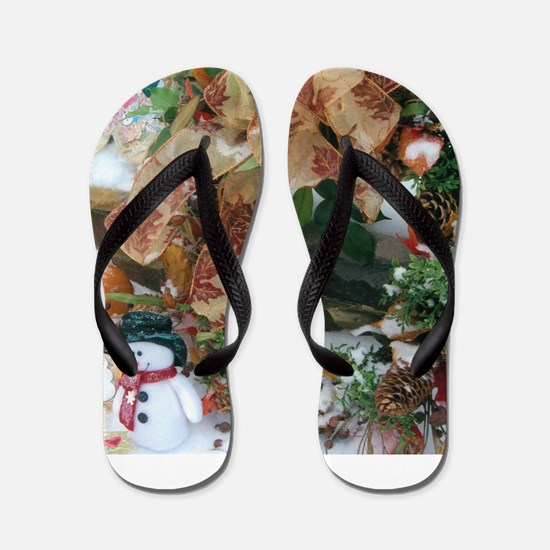 Happy Holidays To Everyone Everywhere Flip Flops