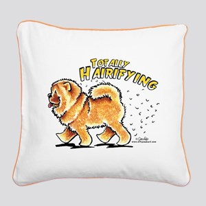 Chow Chow Hairifying Square Canvas Pillow