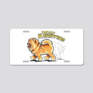 Chow Chow Hairifying Aluminum License Plate