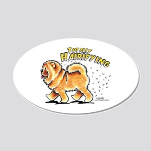 Chow Chow Hairifying 20x12 Oval Wall Decal