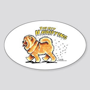 Chow Chow Hairifying Sticker (Oval)