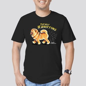 Chow Chow Hairifying Men's Fitted T-Shirt (dark)