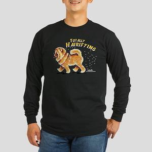 Chow Chow Hairifying Long Sleeve Dark T-Shirt