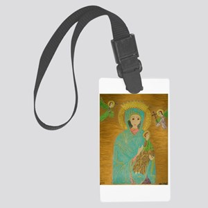 Our Lady of Perpetual Help Large Luggage Tag
