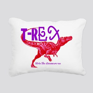T-Rex Rectangular Canvas Pillow