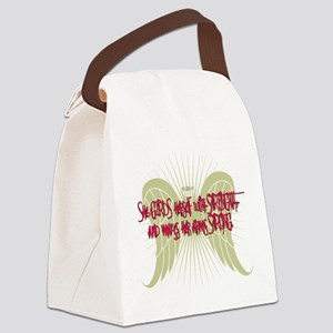 Girds Herself With Strength Canvas Lunch Bag