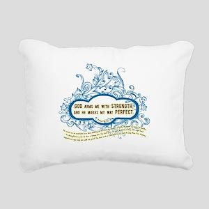 Arms Me With Strength Rectangular Canvas Pillow