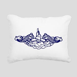 Submarine Dolphins Rectangular Canvas Pillow