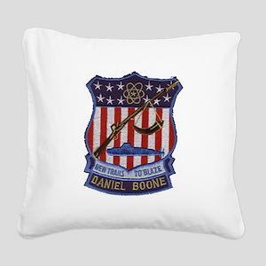Daniel Boone Patch Square Canvas Pillow