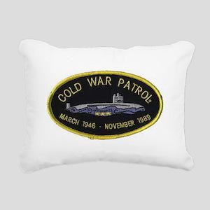 Cold War Patrol Patch Rectangular Canvas Pillow
