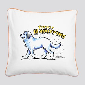 Great Pyrenees Hairifying Square Canvas Pillow
