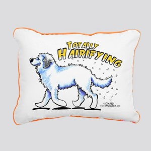 Great Pyrenees Hairifying Rectangular Canvas Pillo