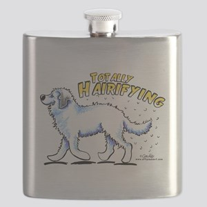 Great Pyrenees Hairifying Flask