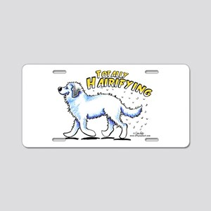 Great Pyrenees Hairifying Aluminum License Plate