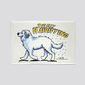Great Pyrenees Hairifying Rectangle Magnet