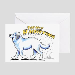Great Pyrenees Hairifying Greeting Card