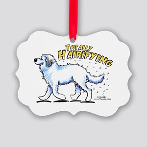 Great Pyrenees Hairifying Picture Ornament