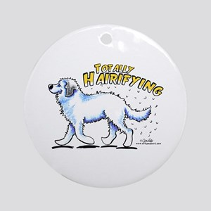 Great Pyrenees Hairifying Ornament (Round)