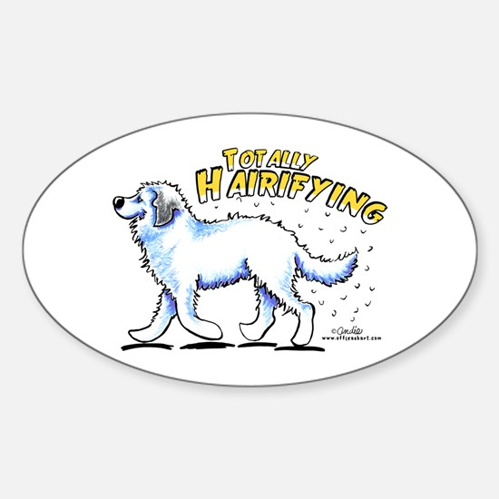 Great Pyrenees Hairifying Sticker (Oval)