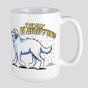 Great Pyrenees Hairifying Large Mug
