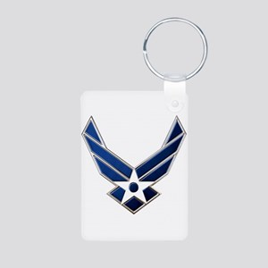 USAF 3 Diamond Symbol Aluminum Photo Keychain