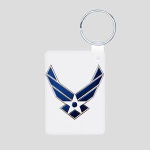 USAF 3 Diamond Symbol Aluminum Photo Keychain