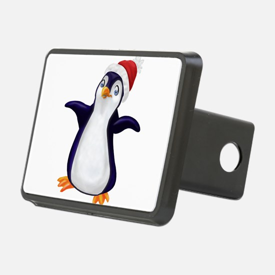 Happy Christmas Penguin Hitch Cover