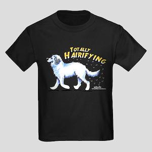 Great Pyrenees Hairifying Kids Dark T-Shirt