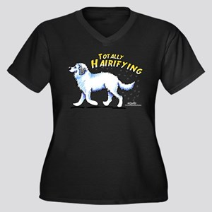 Great Pyrenees Hairifying Women's Plus Size V-Neck