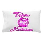 Team Katniss (pink) Pillow Case