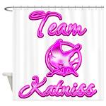 Team Katniss (pink) Shower Curtain