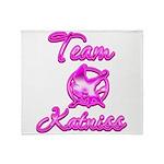 Team Katniss (pink) Throw Blanket