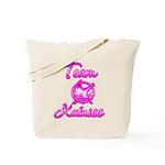 Team Katniss (pink) Tote Bag