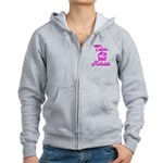 Team Katniss (pink) Women's Zip Hoodie