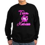 Team Katniss (pink) Sweatshirt (dark)