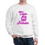 Team Katniss (pink) Sweatshirt