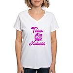 Team Katniss (pink) Women's V-Neck T-Shirt