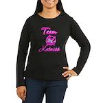 Team Katniss (pink) Women's Long Sleeve Dark T-Shi