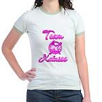Team Katniss (pink) Jr. Ringer T-Shirt