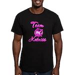Team Katniss (pink) Men's Fitted T-Shirt (dark)