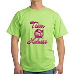 Team Katniss (pink) Green T-Shirt