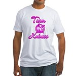 Team Katniss (pink) Fitted T-Shirt