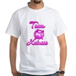 Team Katniss (pink) White T-Shirt