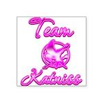 Team Katniss (pink) Square Sticker 3