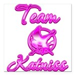 Team Katniss (pink) Square Car Magnet 3
